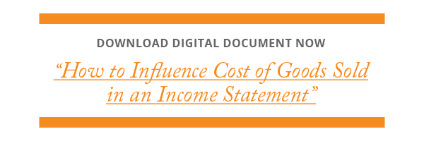 """Download """"How to Influence Cost of Goods Sold in an Income Statement"""" Digital Document from Category Management Knowledge Group"""