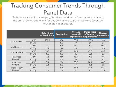 Tracking Consumer Trends Through Panel Data