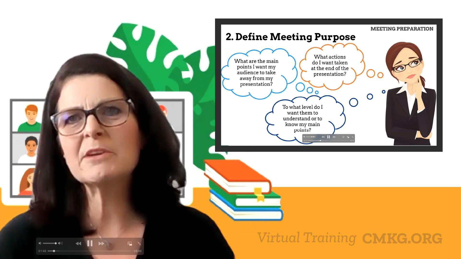 Sue Nicholls conducting Virtual Training Session
